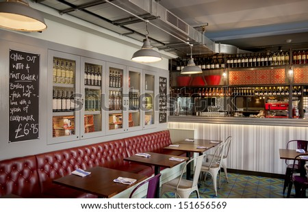stylish Italian restaurant  - stock photo