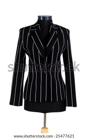 Stylish jacket isolated on the white background - stock photo
