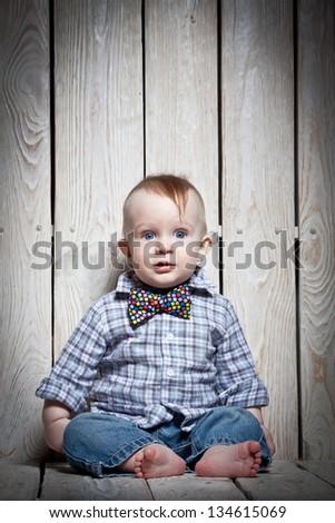 stylish kid - stock photo