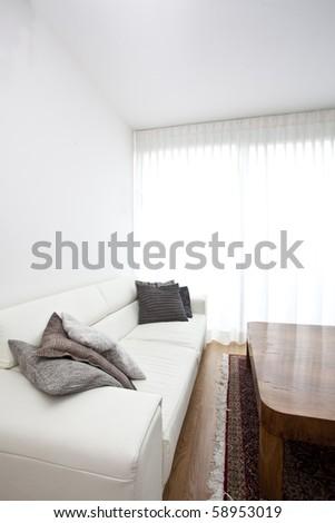 stylish living room - stock photo