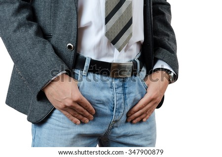 stylish man in jeans and jacket