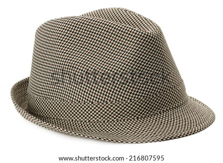 stylish men's hat isolated on the white background