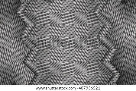 Stylish metallic background. Monochrome abstract background with a zigzag pattern. - stock photo