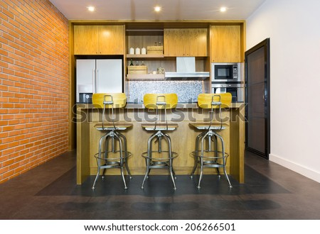 https://thumb7.shutterstock.com/display_pic_with_logo/1392172/206266501/stock-photo-stylish-modern-contemporary-kitchen-with-island-bar-chair-and-home-appliances-206266501.jpg