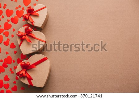 Stylish objects of love for valentines day celebration for a couple, greeting card concept.