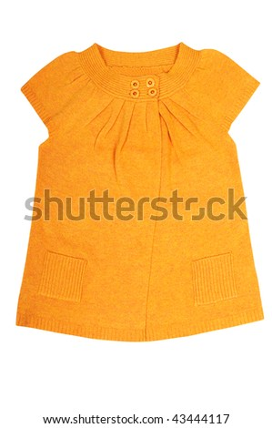 Stylish orange tunic isolated on a white background.
