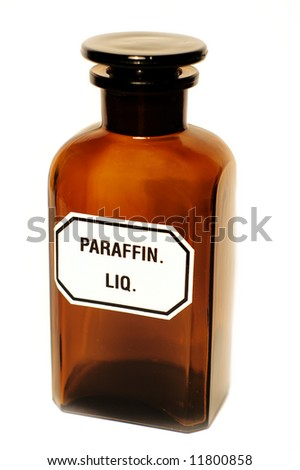 Stylish pharmacy bottle, isolated - stock photo