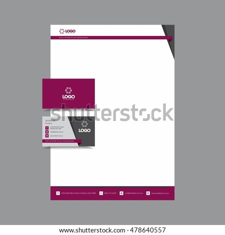 Stylish professional business card letterhead stock illustration stylish professional business card and letterhead reheart Image collections