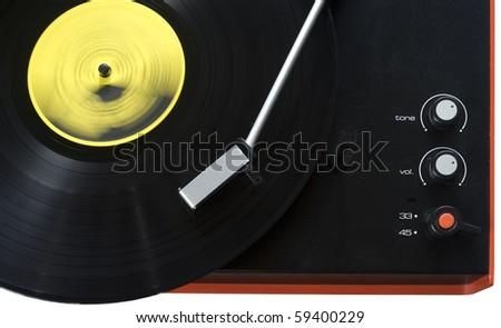 Stylish retro turntable - stock photo