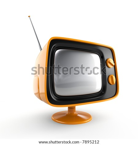 Stylish retro TV - stock photo