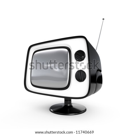 Stylish retro TV - Black edition. More TV in my portfolio. - stock photo