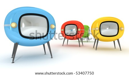 Stylish retro TV - isolated. Retro revival - stock photo
