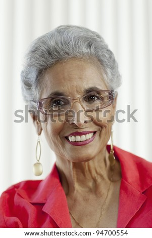 Stylish senior Black woman