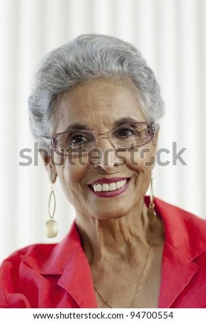 Stylish senior Black woman - stock photo
