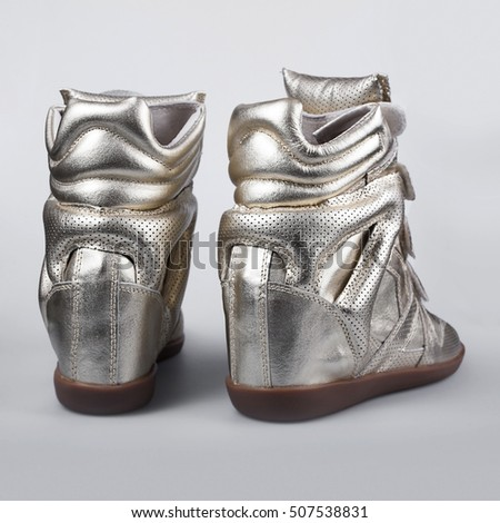stylish silver shoes