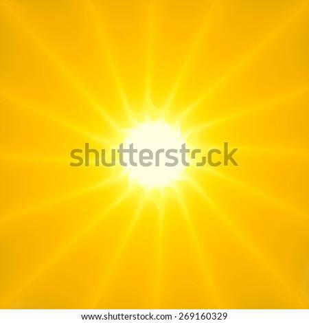 Stylish Sun Sunburst background - stock photo