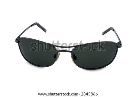 Stylish sunglasses isolated over white background - stock photo