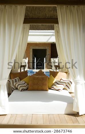 stylish veranda - stock photo