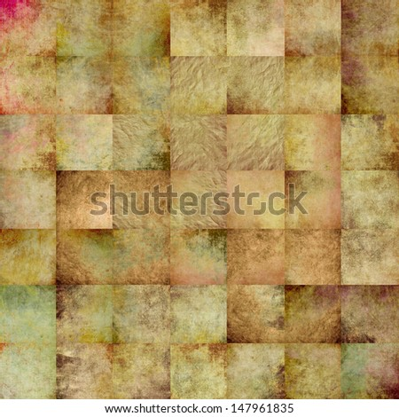 stylish vintage background, distressed & desaturated, weathered old paper texture, rich composition collage work. ideal for high quality cover design works, business concept works or book covers - stock photo
