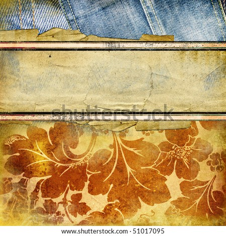 stylish vintage background with place for text - stock photo