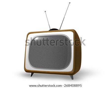 Stylish Vintage Television  - stock photo