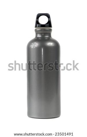 Stylish Water Bottle isolated on white - stock photo