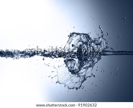 Stylish water splash - stock photo