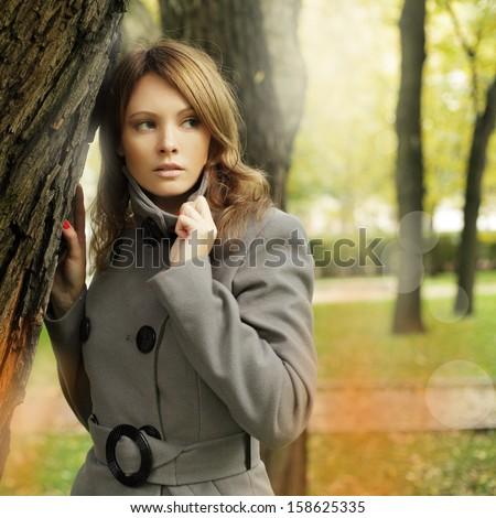 Stylish woman fashion model, fashion portrait - stock photo