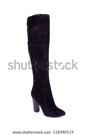 Stylish women's boots. Women's boots on a white background