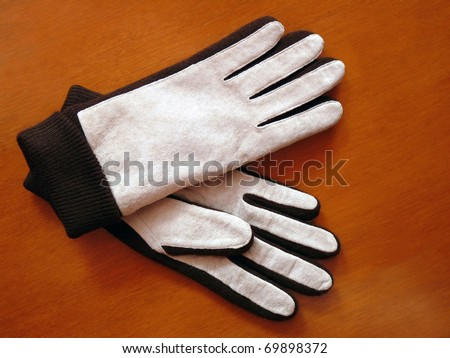 Stylish women's suede gloves