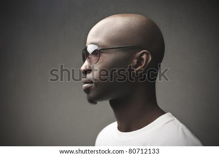Stylish young african man - stock photo