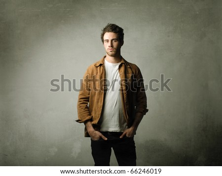 Stylish young man - stock photo