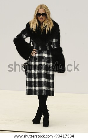 stylist, Rachel Zoe arrives for the Burberry Prorsum SS'12 catwalk show in Kensington Gardens as part of London Fashion Week. 19/09/2011  Picture by Steve Vas/Featureflash - stock photo