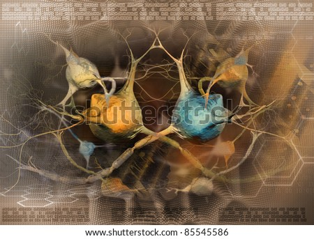 Stylized abstract background with neurons