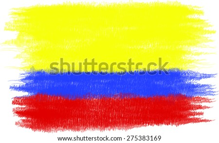 Stylized Colombian flag illustrated, no border
