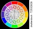 Stylized Color Wheel - stock