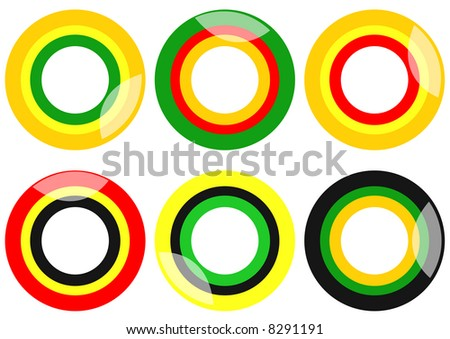 stylized fruit circles chewy sweets - stock photo