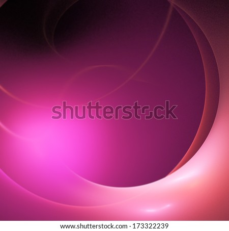 stylized glowing sphere, purple, red on black - stock photo