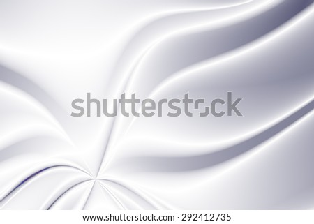 Stylized illustration of flowing silky fabric in white and space grey colors