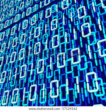 stylized image of binary code - stock photo