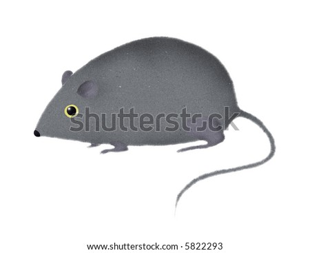 stylized mouse or rat, illustration