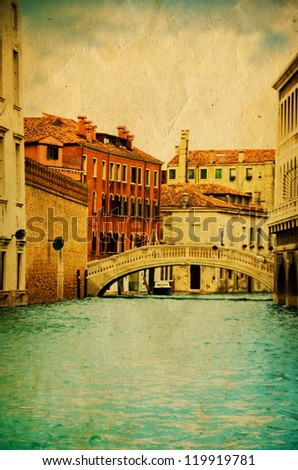 Stylized photo of Grand Canal in Venice - stock photo