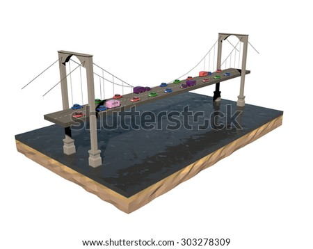 Stylized road bridge