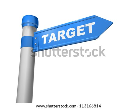 "Stylized road sign with a word ""target"""