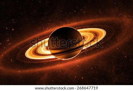 Stylized Saturn - Elements of this Image Furnished by NASA