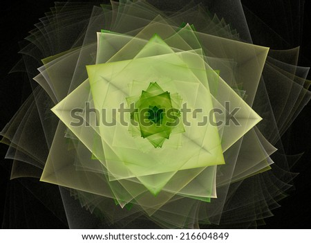 Stylized swirling rectangles. Colorful design element. - stock photo