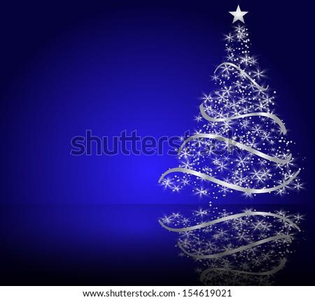 stylized vector Christmas tree. raster copy - stock photo