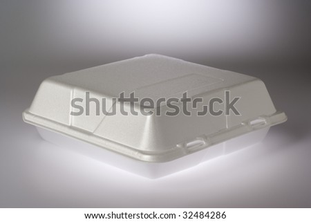Styrofoam Food Container - stock photo