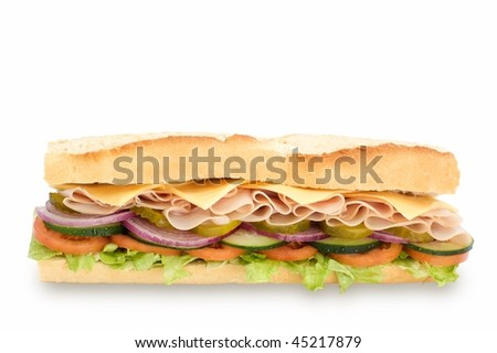 Sub sandwich - stock photo