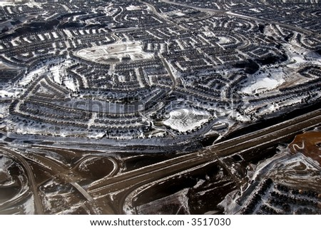subdivision - stock photo
